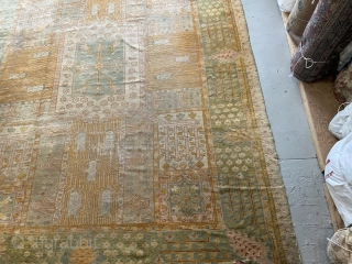 Old Oushak 12x15-6 very good condition no repair  Original condition