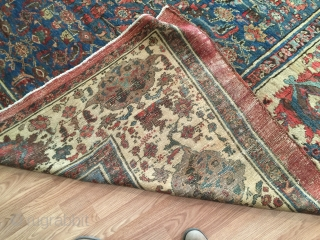 10-8x12-8 Bakhshayesh/ SultanAbad very good condition gorgeous border very good dining room rug.