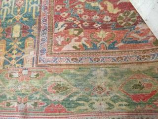 10-10x14 antique Sultanabad minor wear