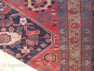 5-5x9 antique Rug, extensive wear gorgeous colors  Lots of eggplant colors