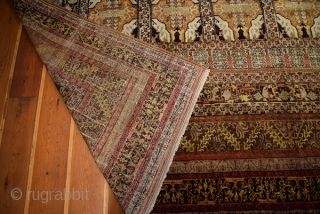 Sivas, Armenian Carpet, circa 150 years. Wool on cotton.Size 380x290 cm.