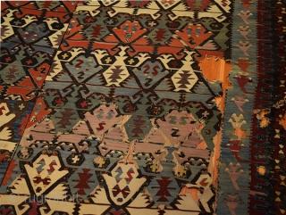 Kpnya Kilim . Pure  Wool , Central Turkey Size 380X187 cm .