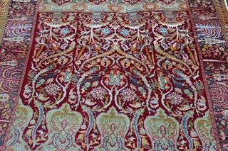 Bürüngüz antique carpet. Over 100 years old. Wool on cotton. Very unique design.250x185 cm
