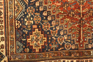 Antique Qashqai Persian Carpet Age , about 100 years old SIZE: • 8.4x5.6 ft (255 x 170 cm)  STYLE: • Hand Knotted , Qashqai Carpet •Design: Antique Persian Traditional   MATERIAL: •%100 Wool  •Clean and Ready to Use  PAYMENT OPTIONS •Paypal accepted. 100% Money Back  ...