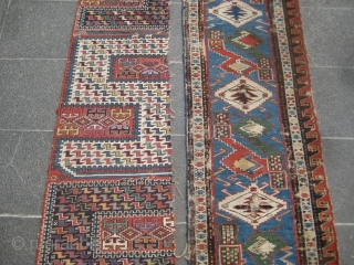 Two caucasian sumack / flatweave fragments.