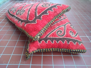 Pair of central asian tent-pole covers (okbash),turned into cushions.  Old and dusty :-) Two for the price of one half