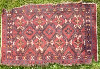 Turkoman Beshir cuval fragment (3'x4'9)