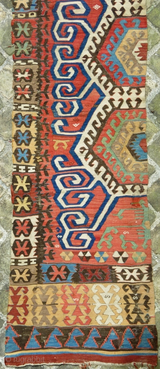 Central anatolian kilim band (423cmX74cm).