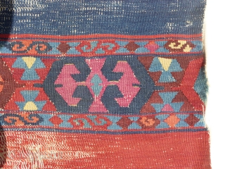 Antique east anatolian kurdish kilim band (340X109cm/11ft.2inX3ft.7in)