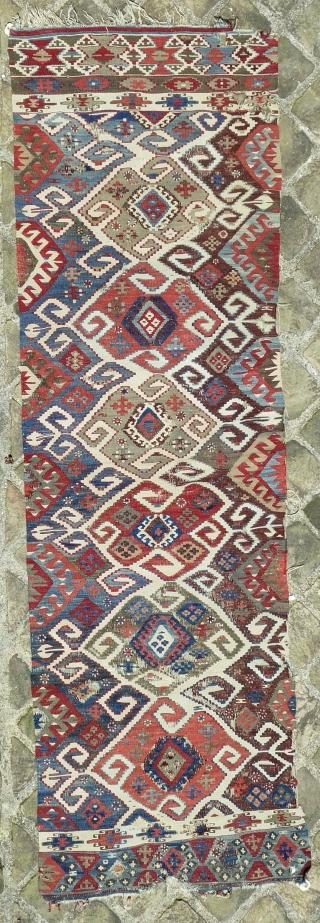 West anatolian kilim band (8ft10inX2ft8in/269cmX81cm).