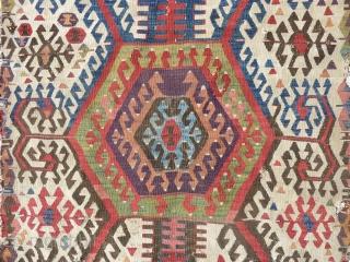 Central anatolian kilim fragment (270cmX120cm).