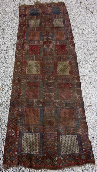 Antique Verneh kilim cover band (285cmX91cm, original size, half but uncutted).