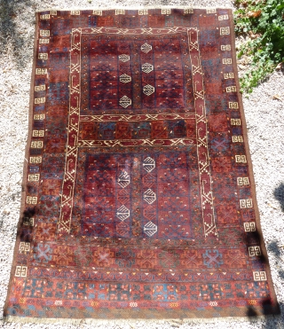 Turkoman Ersari rug (216cm X 148cm).