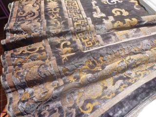 Chinese velvet fragment (115cm X 59cm / 45in X 23in). .