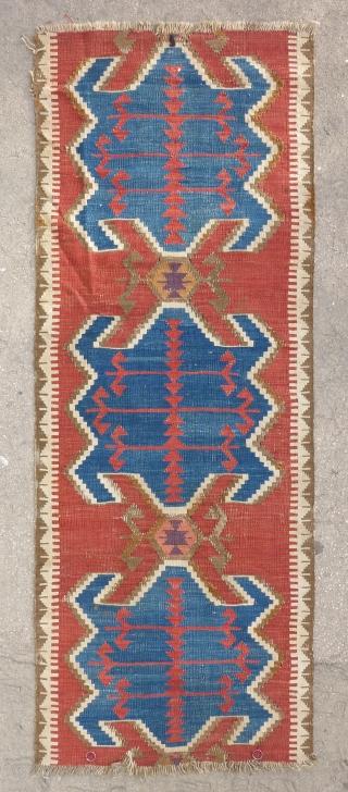 Anatolian Obruk kilim fragment (170cm X 65cm).