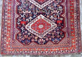 South persian Khamseh rug (245cm X 125cm).