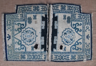 5726# Tibet saddle, 102x67cm(40x26''), 19th century