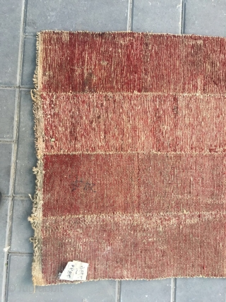 """#2072 Tibet rug. Rare tsuktruk saddle cover in very good condition.very fine woven. Size 158*67cm(109*26"""")"""