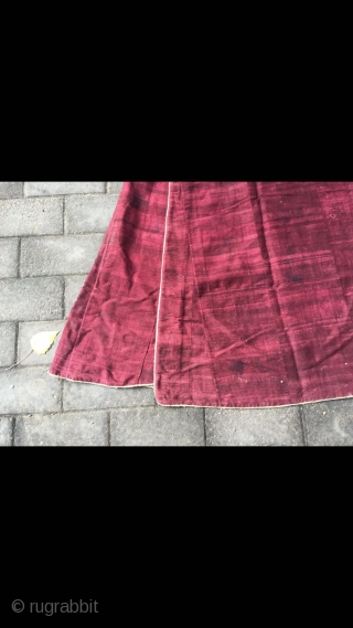 Tibetan lama robe, Natural plant dyeing, hand spinning wool cloth, good age.