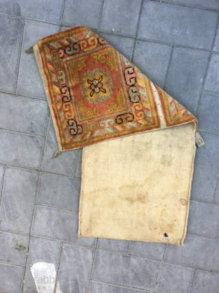 Xinjiang bag, the bag that Xinjiang people carry on the shoulder when they go far from home, one side can put water bottle and one side put cake. Group flowers veins with  ...