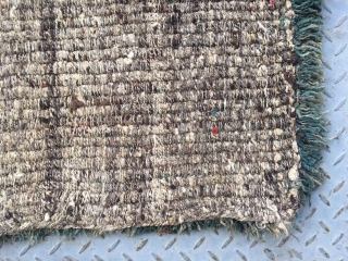 #2010 Tibet Wangden rug. Brown color single group veins with colorful selvage. Good age and quality.