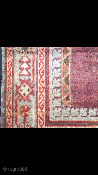 """Uighur Xinjiang rug, For xinjiang Muslims to worship. Good age. Size 78*130cm(30*50"""")"""