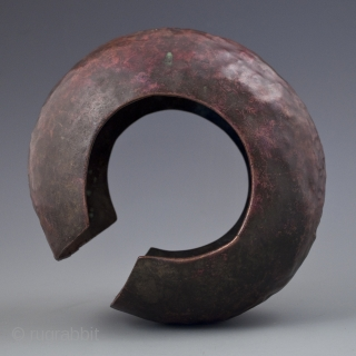 Copper currency anklet,