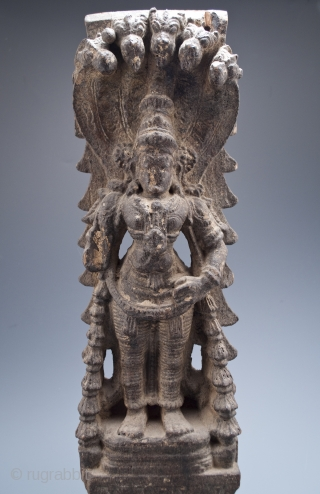 Temple carving of, most likely, Vishnu from Kerala, India.