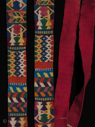 "Ceremonial cinta (hair ribbon), Zunil, Guatemala. Cotton. 130"" long by 1.25"" wide."