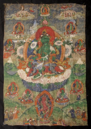 Tibetan 18th Century Green Tara Thangka