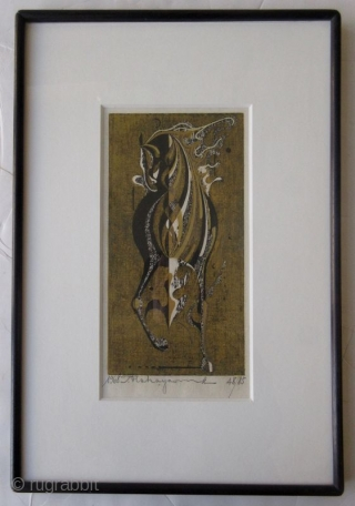 Japanese Nakayama Woodblock Print of Horse
