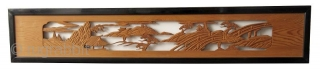 Antique Japanese Ranma (transom)