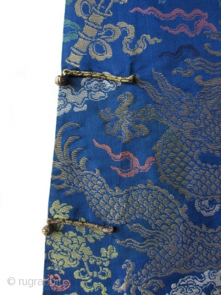 Chinese Antique Dragon Robe, Qing Dynasty   Antique Chinese dragon robe woven with 8 dragons (3 on the front, 3 on the back, and 1 on each shoulder). Dragons and Taoist symbols woven in  ...