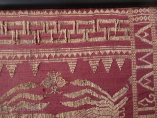 Framed Balinese Kampuh Songket Men's Ceremonial Wrapper