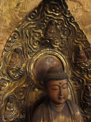 17th Century Japanese Standing Amida Buddha Statue