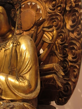 Antique Japanese 24 Armed Kannon Seated Bodhisattva