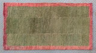 "No.X0025 * Tibetan Antique Khaden Rug.Age: Early-20th Century. Size:80x150cm(31""x59"").wool/wool. Origin: Tibet Shape: Rectangle.Background Color:Greens."