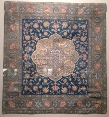 Persian or Turkish silk and metal thread textile