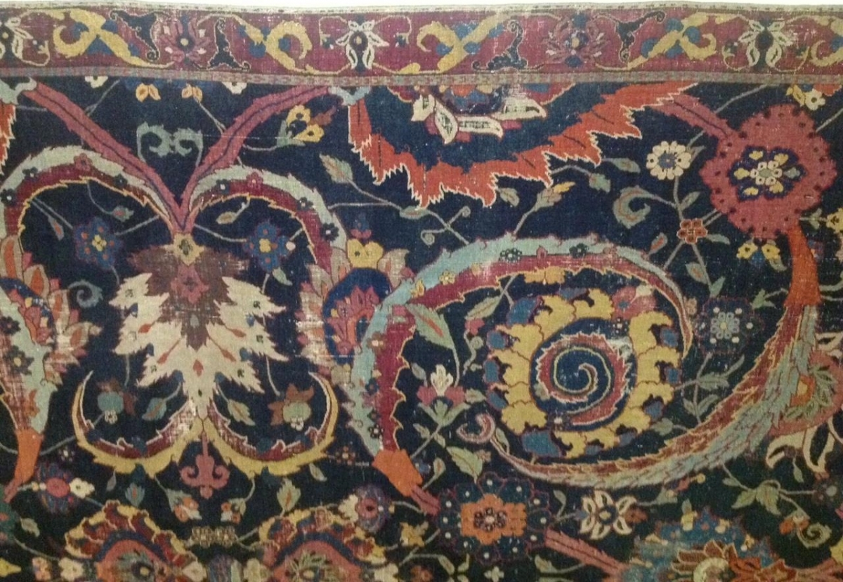 Sickle-leaf carpet, Persian Kerman (?) 16th-17th century, Gulbenkian Museum