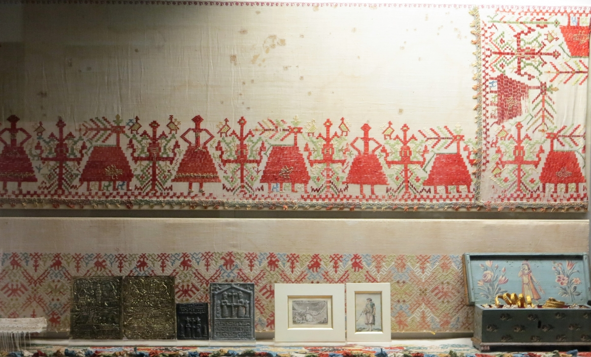 embroidery from the island of Anaphi, 18th century, Benaki Museum