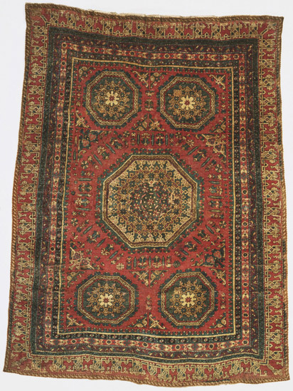 large pattern Holbein carpet