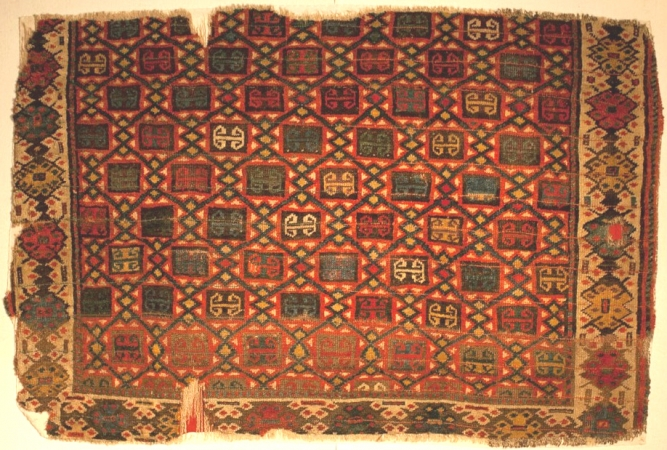 Anatolian lattice rug Konya Museum