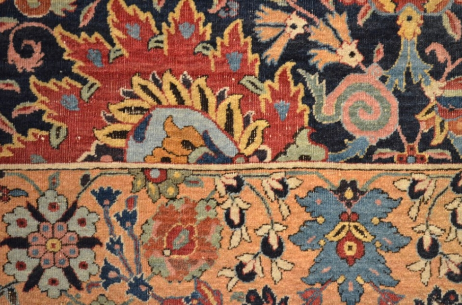 Kerman Vase Carpet Fragment