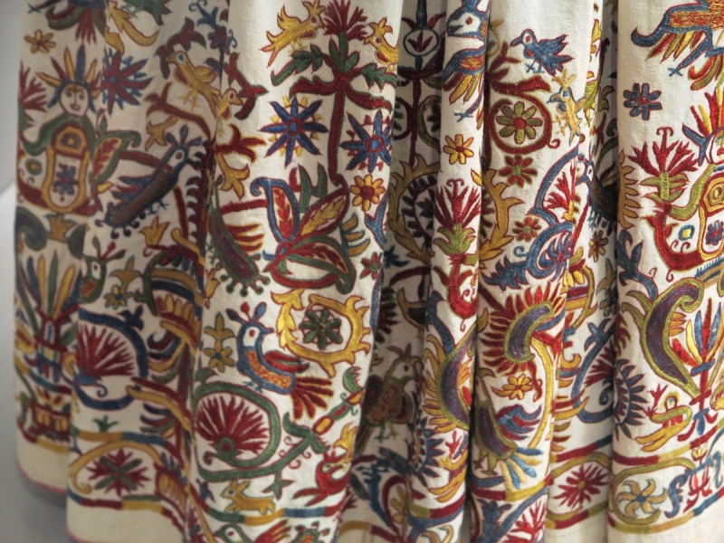 Cretan embroidered skirt (detail), circa 18th century, Benaki Museu
