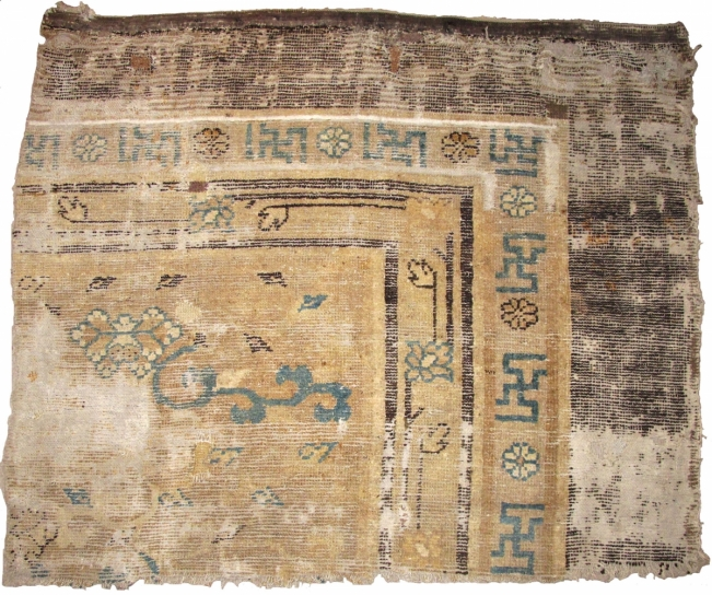 5. early Northern Chinese carpet fragment