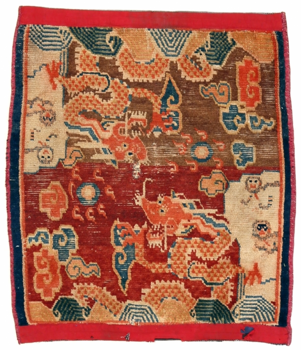 18. Tibetan rug with dragons