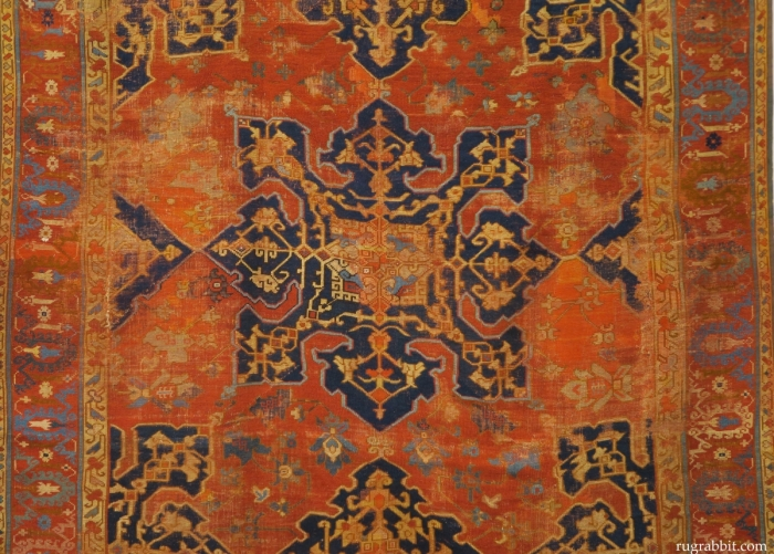 Rugs from the Christopher Alexander Collection at Sotheby's: star Ushak carpet