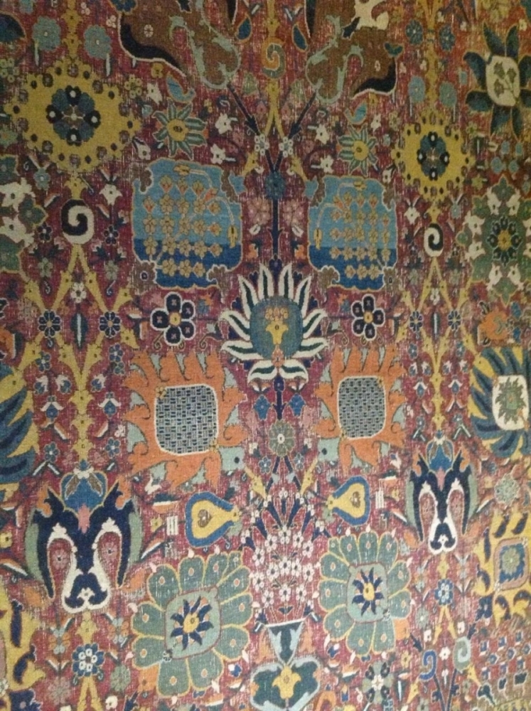 Vase carpet, Persian Kerman (?) 16th-17th century, Gulbenkian Museum