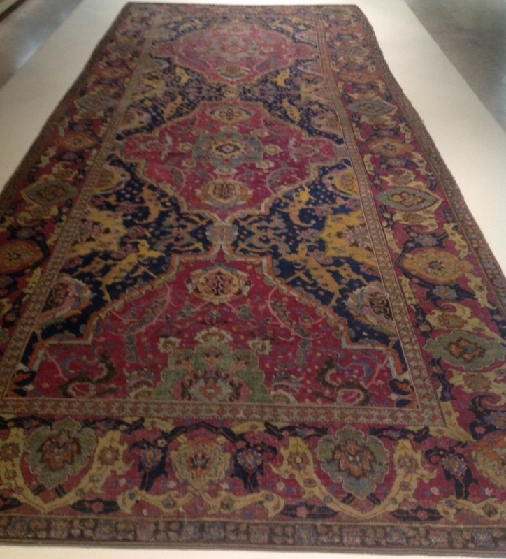 central Persian carpet, Safavid era, 17th century, Gulbenkian Museum