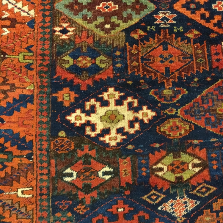 NW Persian Saujbulagh Kurdish rug with Owen Parry